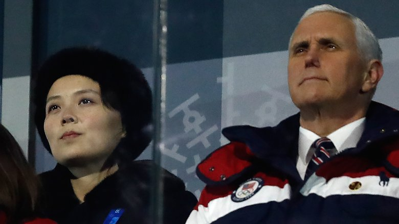Vice President Mike Pence and Kim Yo-jong