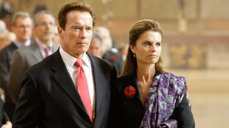Governor Arnold Schwarzenegger with Estranged wife Maria Shiver