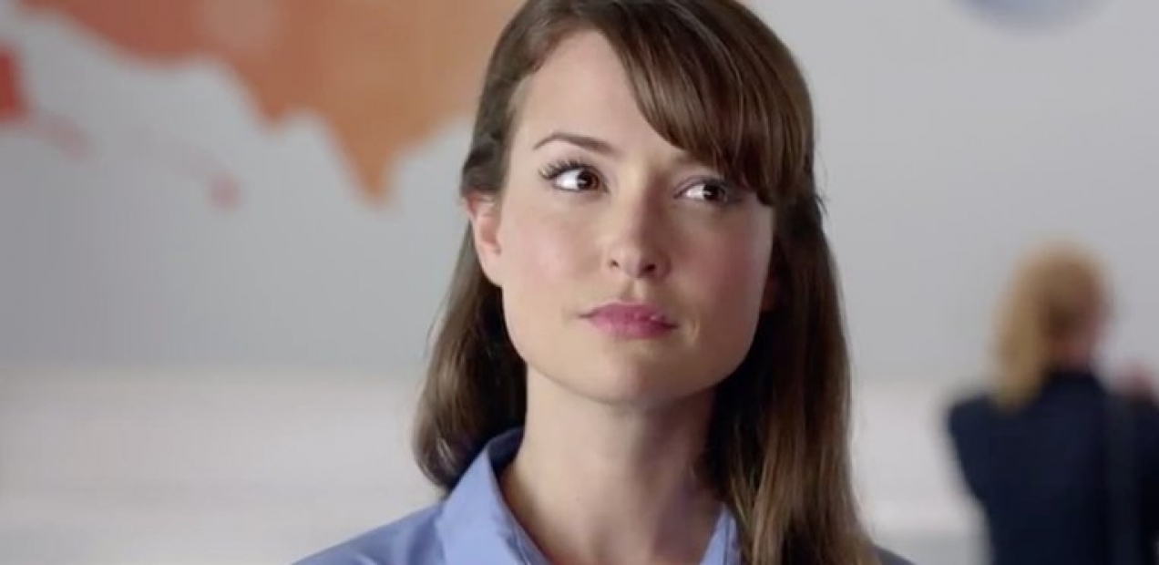 Woman in at&t speed dating commercial
