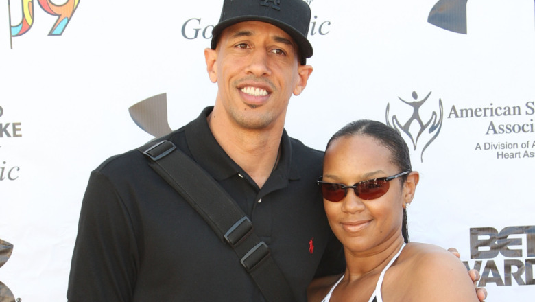 NBA basketball player Doug Christie and Jackie Christie attend the BET Awards third annual ''Power to End Strokes'' golf tournment