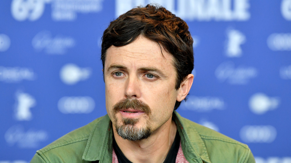 Casey Affleck speaks in a press conference