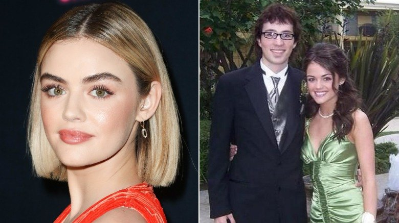 Lucy Hale and Dustin Belt at prom