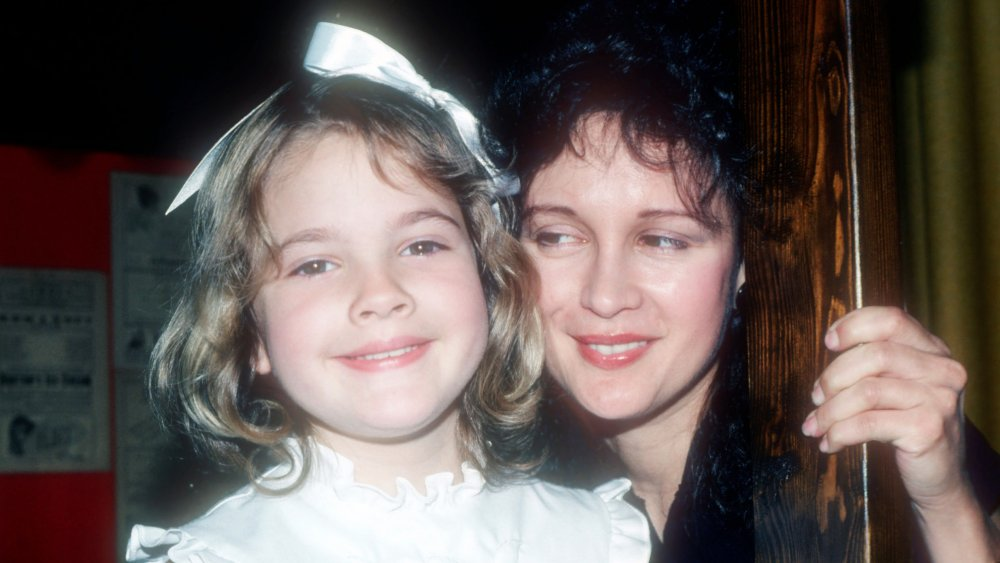 Drew Barrymore and Jaid Barrymore in 1982