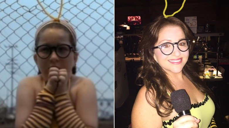 Blind Melon's Bee Girl then and now