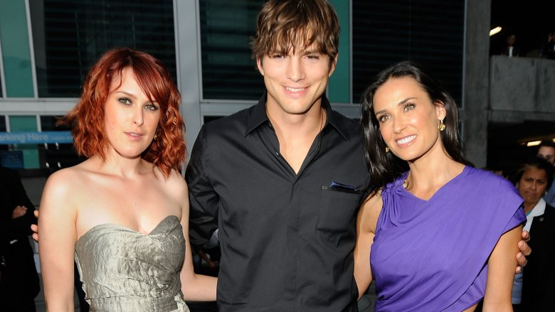 Rumer Willis, Ashton Kutcher, Demi Moore
