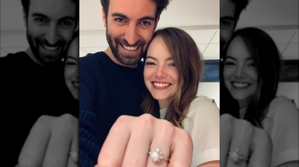 Dave McCary and Emma Stone's engagement announcement