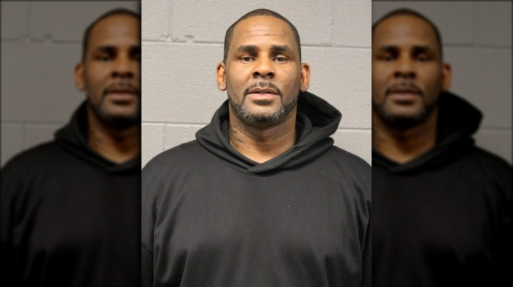 R. Kelly's 2019 mugshot taken by the Chicago Police Department,