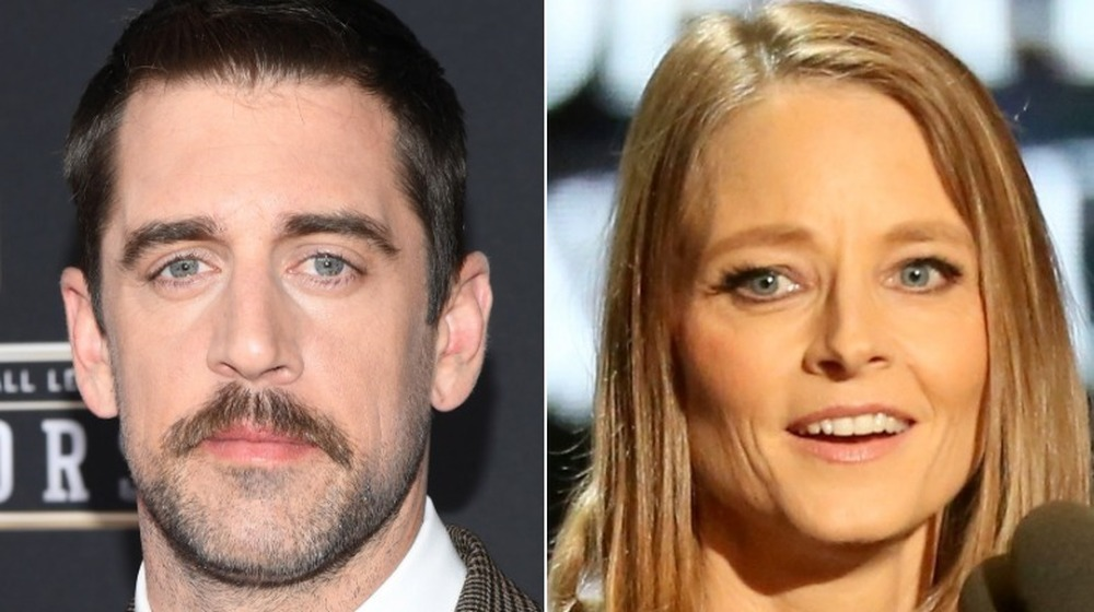Aaron Rodgers and Jodie Foster