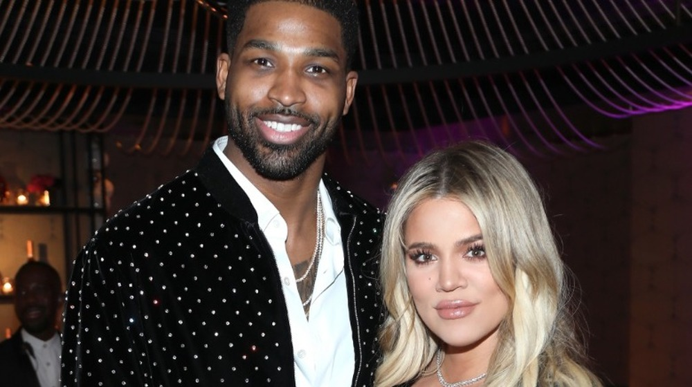 """Tristan Thompson and Khloe Kardashian attend the Klutch Sports Group """"More Than A Game"""" Dinner Presented by Remy Martin at Beauty & Essex on February 17, 2018"""