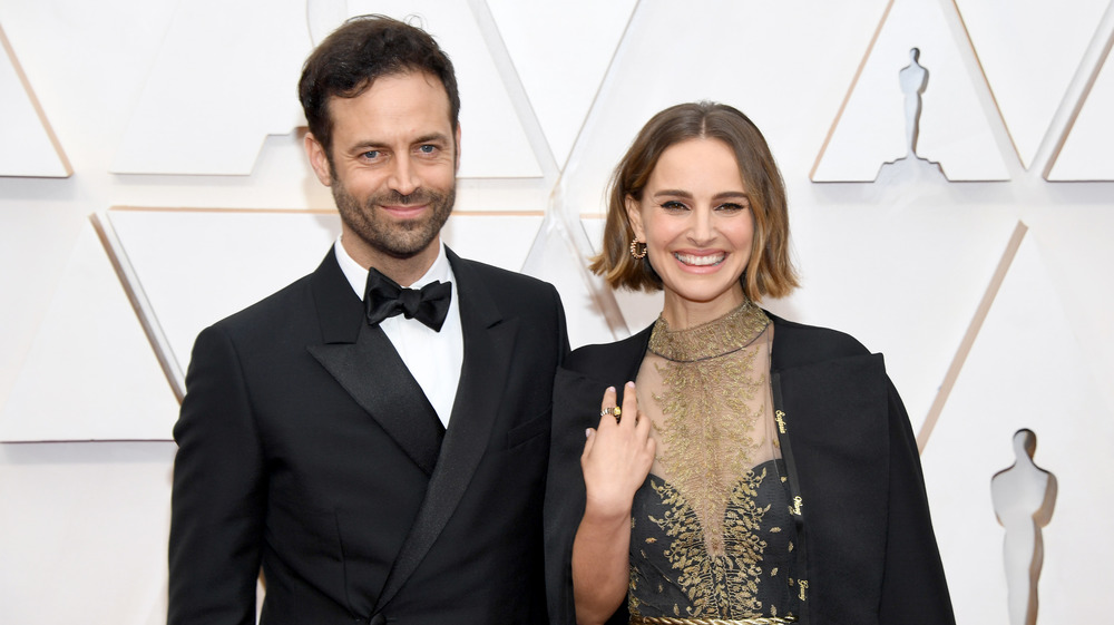 Natalie Portman and her husband at the Oscars