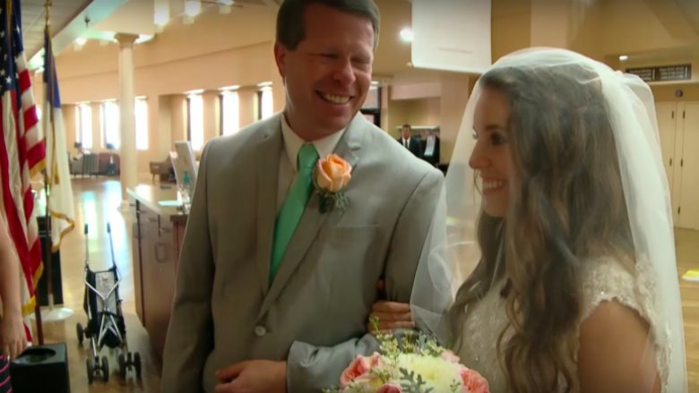 Jill Duggar on her wedding day with her father, Jim Bob Duggar