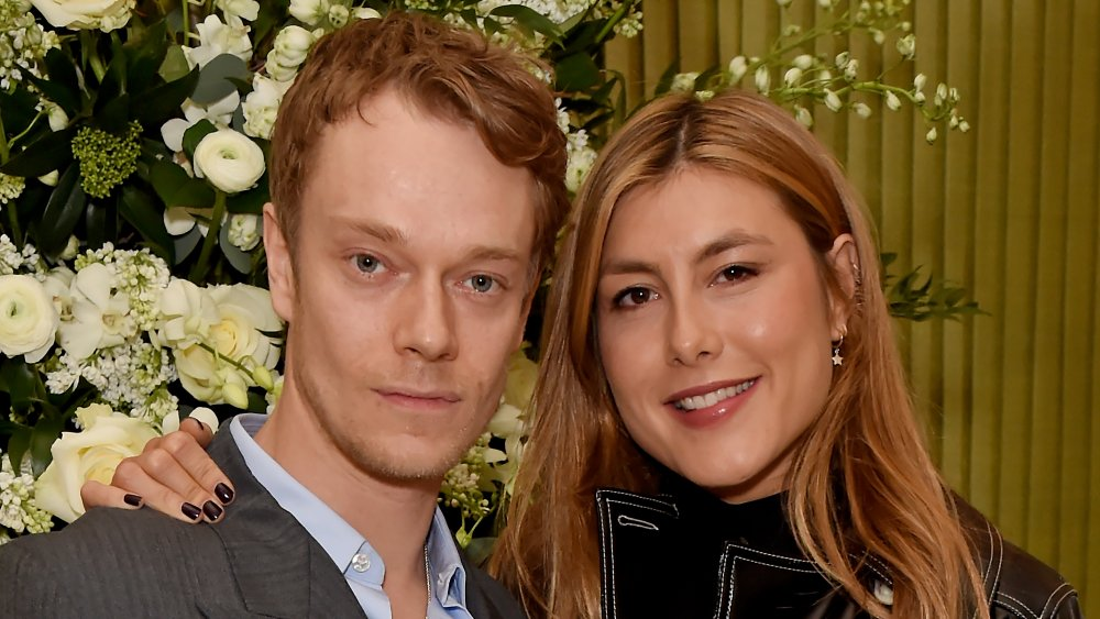 Alfie Allen and Antonia Showering at the British Vogue and Tiffany Fashion and Film party in 2020