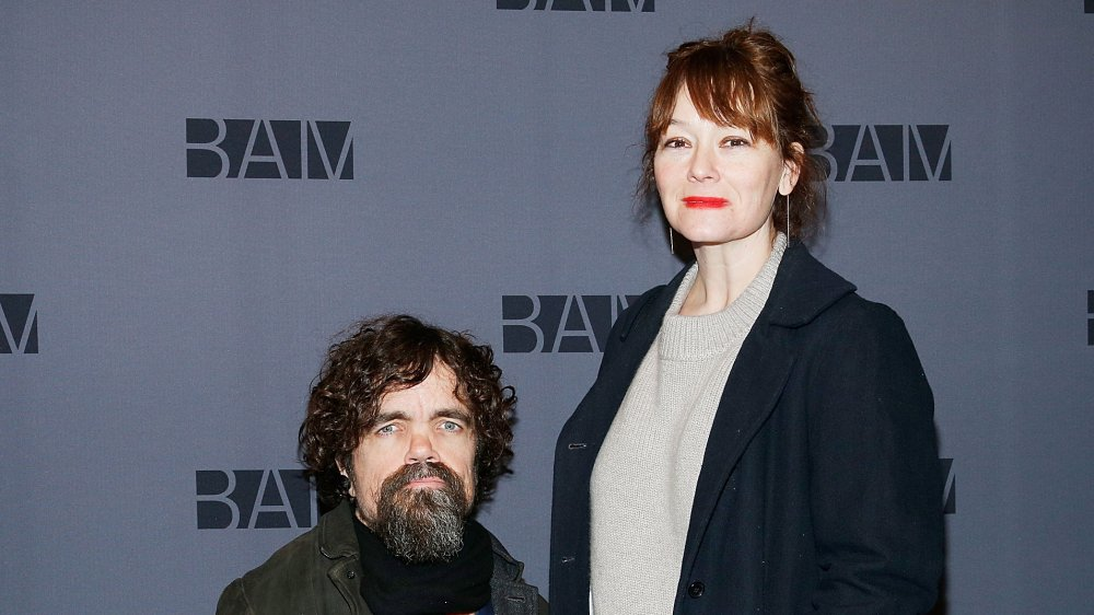 Peter Dinklage and Erica Schmidt at the opening night party for Medea