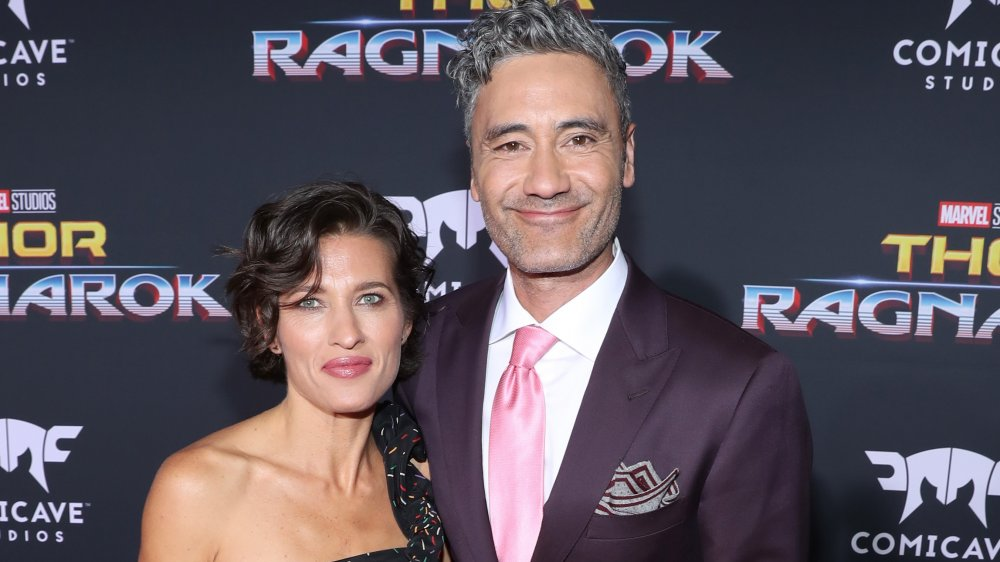 Chelsea Winstanley and Taika Waititi at red carpet event