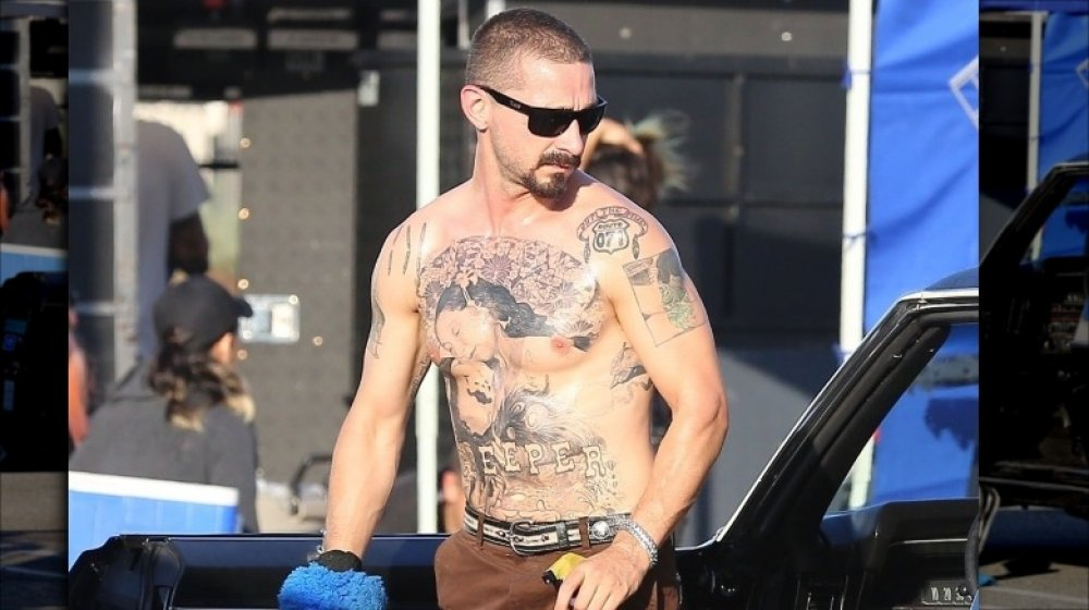 Shia LaBeouf Goes for a Shirtless Jog, Puts All His