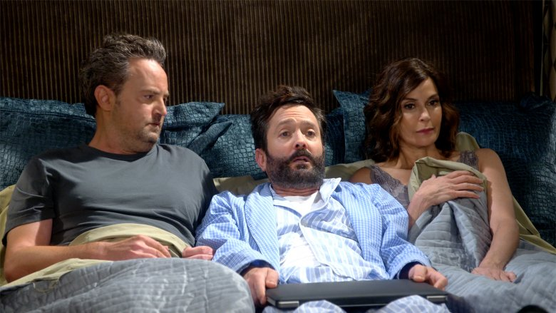 Matthew Perry, Thomas Lennon, Teri Hatcher in The Odd Couple