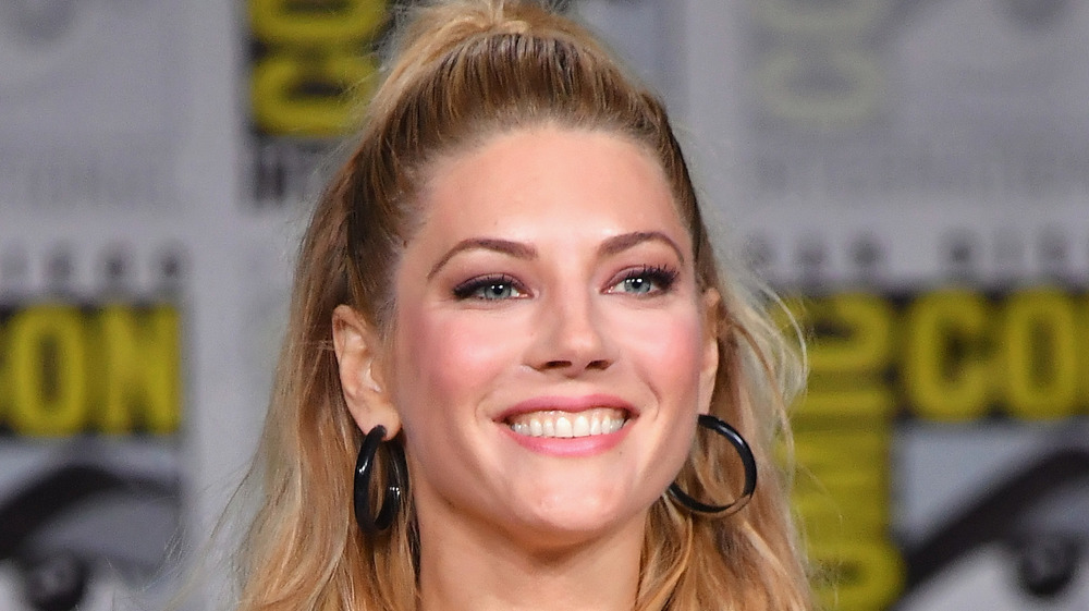 Katheryn Winnick smiling at Comic-Con
