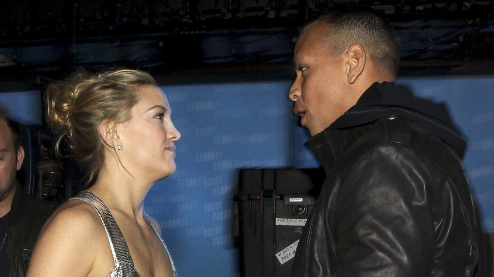 Kate Hudson and Alex Rodriguez having an argument