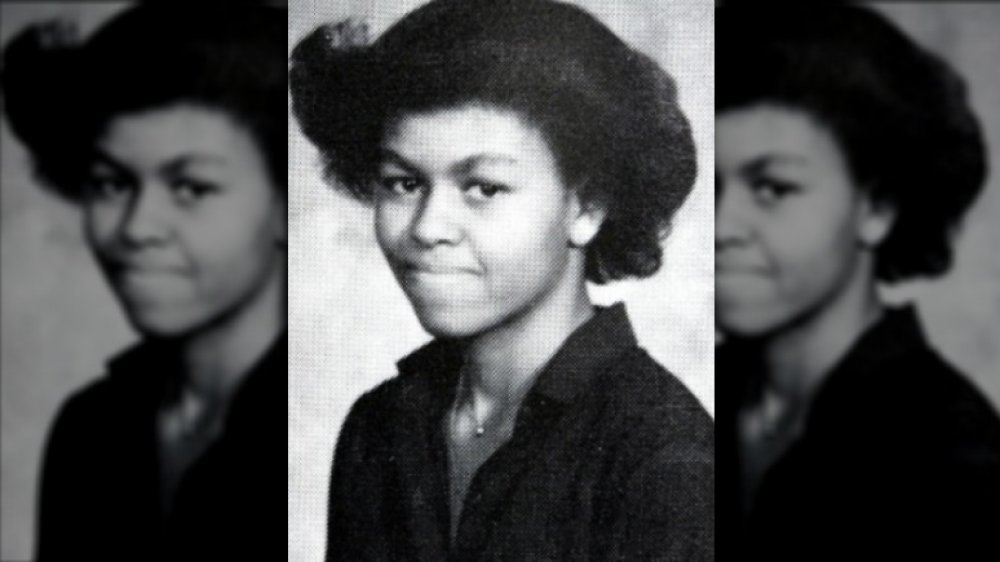 Michelle Obama 1980 yearbook photo