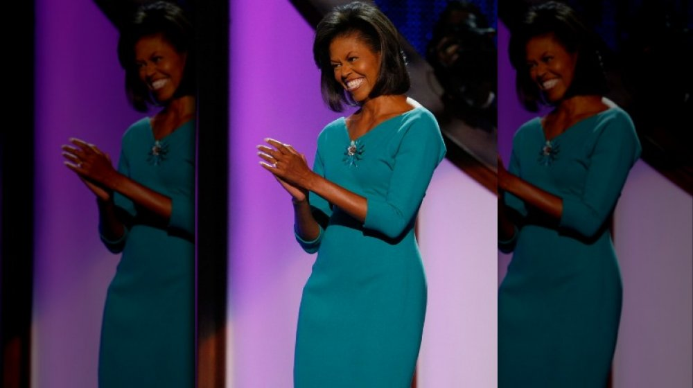 Michelle Obama at the Democratic National Convention in 2008