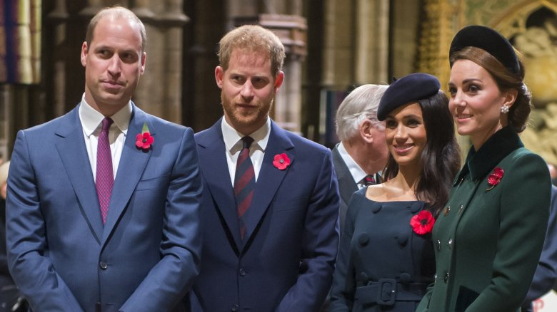 Prince William, Prince Harry, Meghan Markle, Duchess of Sussex and Kate Middleton