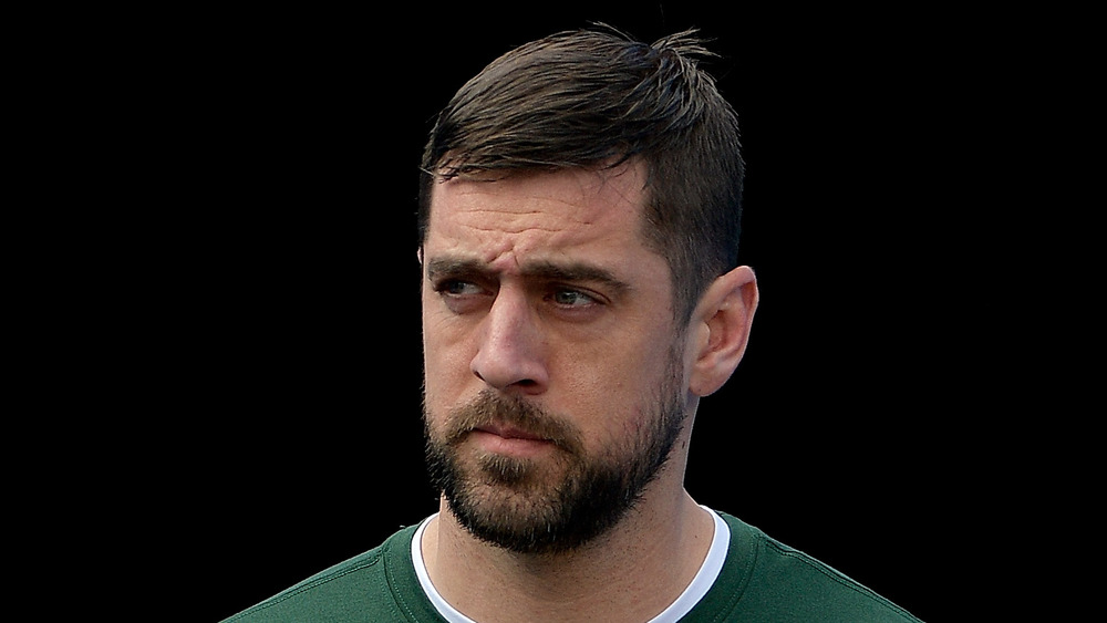 Aaron Rodgers before a game