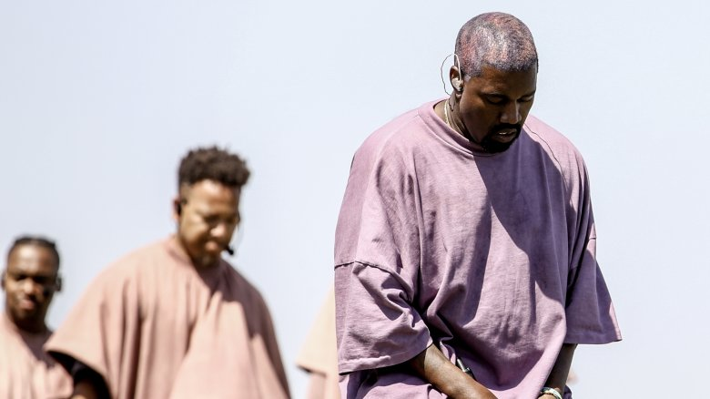 Kanye West at a Sunday church service