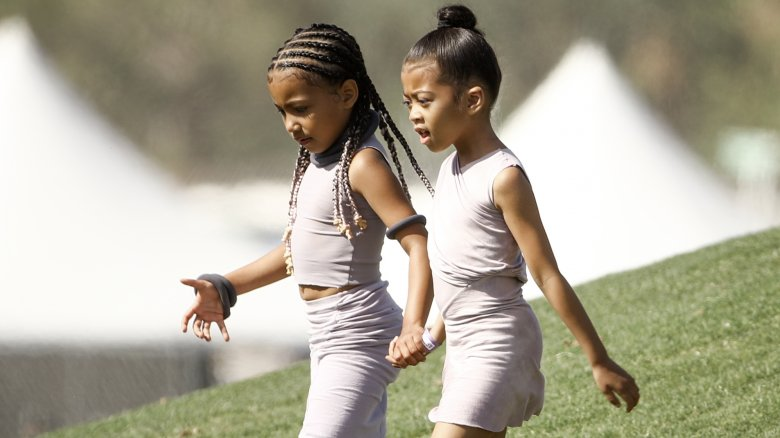 North West with friend