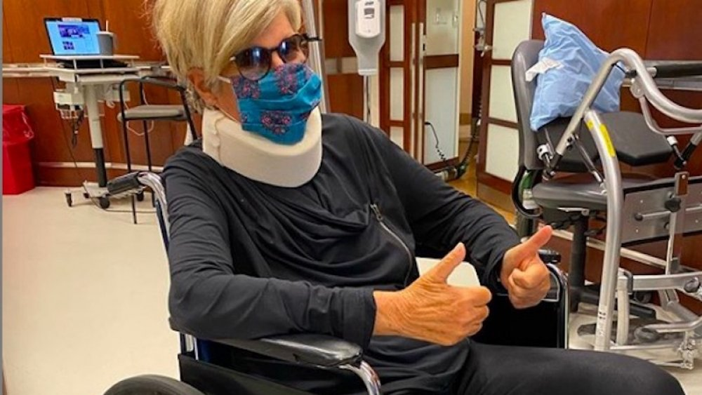 Suze Orman following spinal surgery