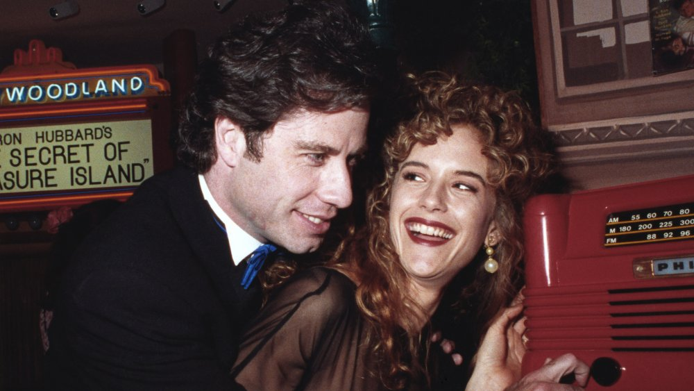 John Travolta and Kelly preston at the opening of The Church of Scientology Museum