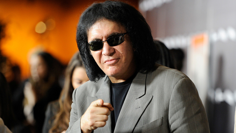 Gene Simmons pointing at camera