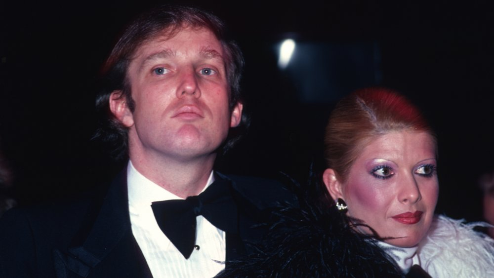 Donald Trump and Ivana Trump at an event in 1980