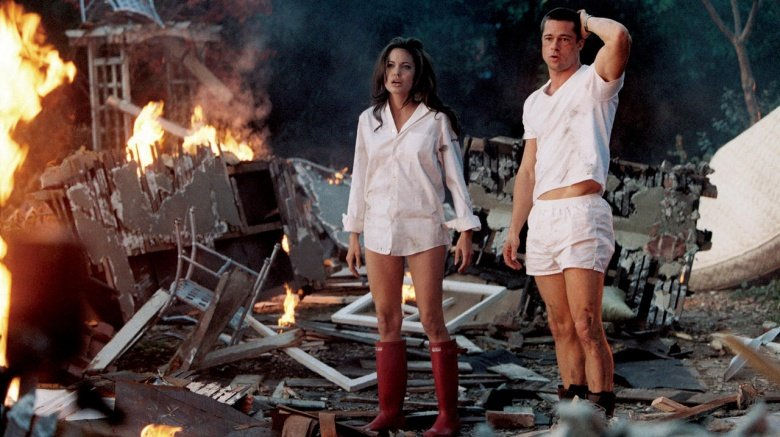 Angelina Jolie and Brad Pitt in Mr. and Mrs. Smith