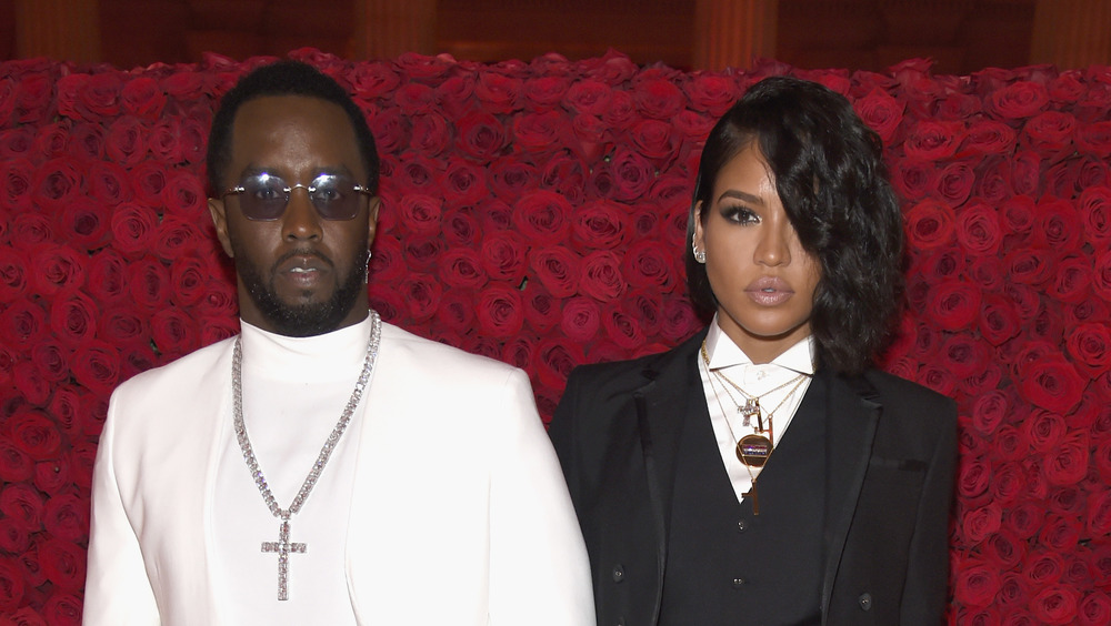 Diddy and Cassie looking serious