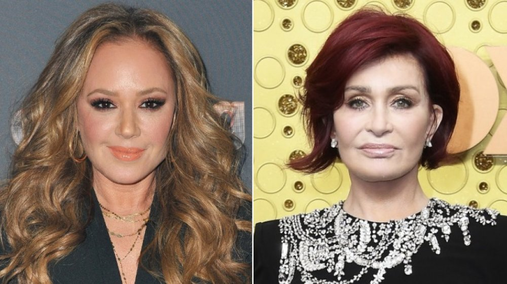 Leah Remini at Dancing with the Stars in 2019; Sharon Osbourne at the 71st Emmy Awards