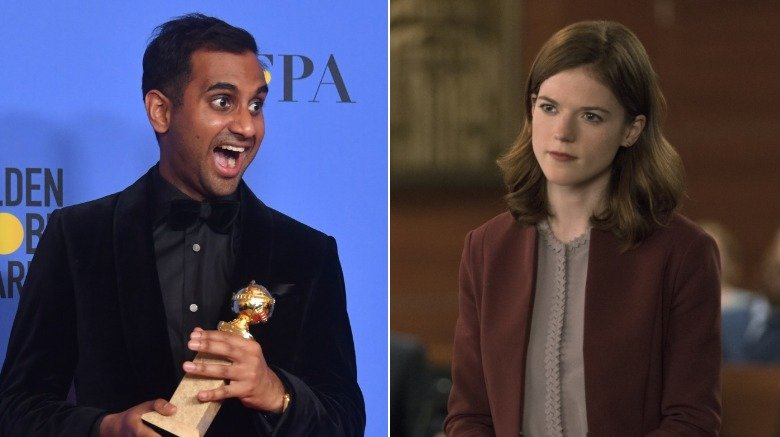 Aziz Ansari and Rose Leslie