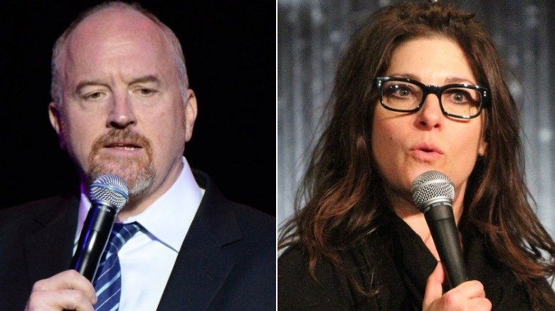 Louis C.K. and Rebecca Corry