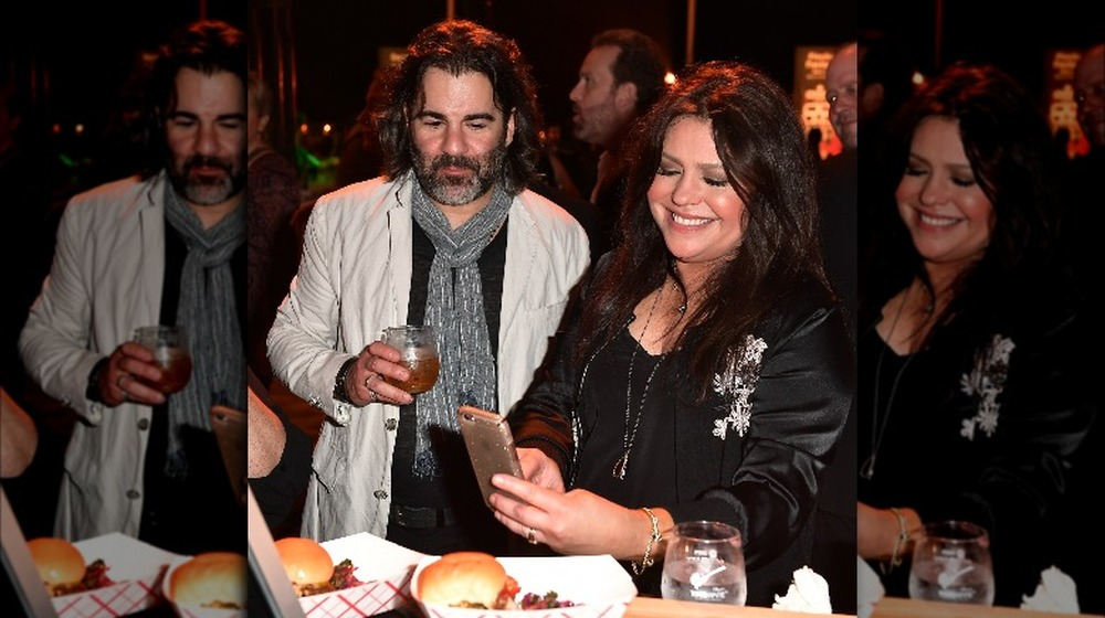 John Cusimano and Rachael Ray attend a party