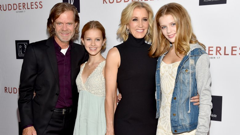 William H. Macy, Felicity Huffman, their daughters