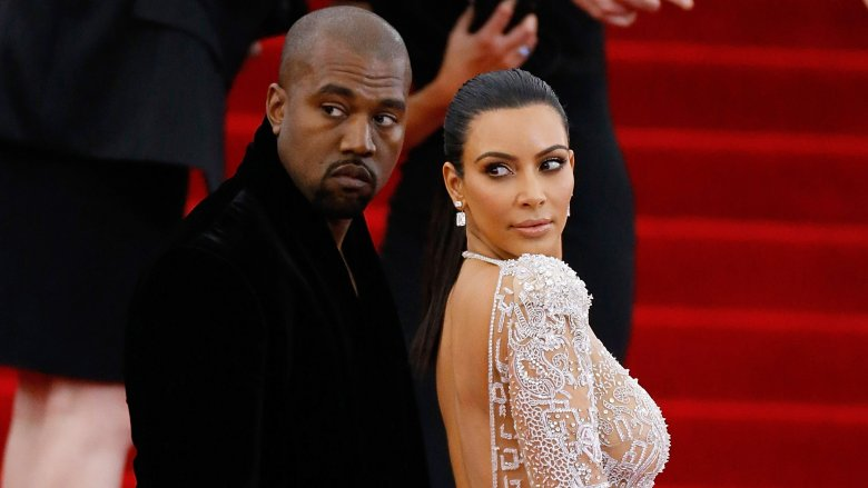 Kanye West and Kim Kardashian at the Met Gala