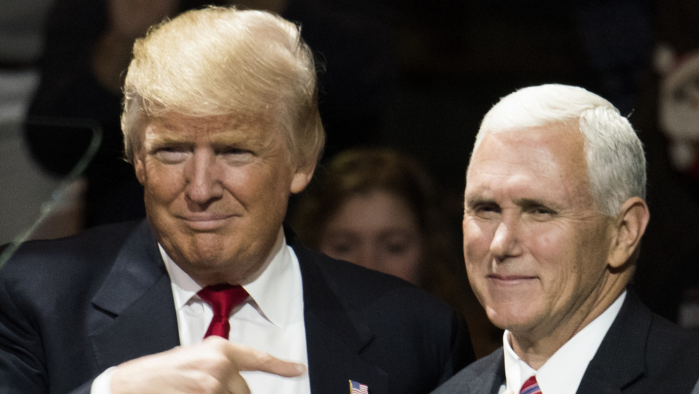 Donald Trump and Mike Pence red ties