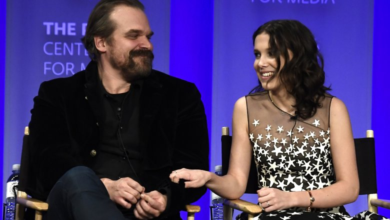 Millie Bobby Brown and David Harbour