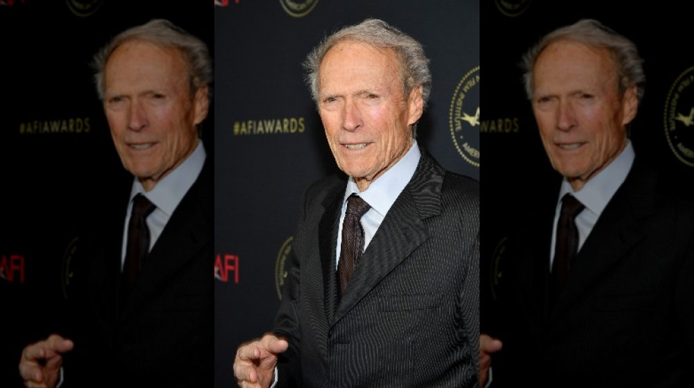 Clint Eastwood smiling at the AFIA Awards