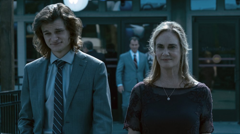 Charlie Tahan and Lisa Emery in a scene from Ozark